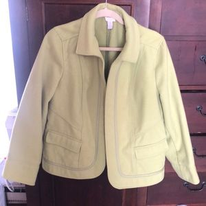 Lime green jacket